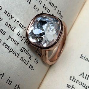 Premier Design Rose Gold Rhinestone Ring